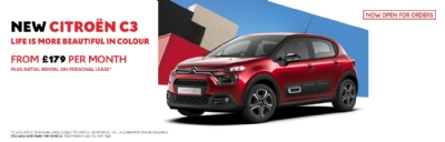 New Citroen C3 - From £179 per month plus initial rental on Personal Lease*