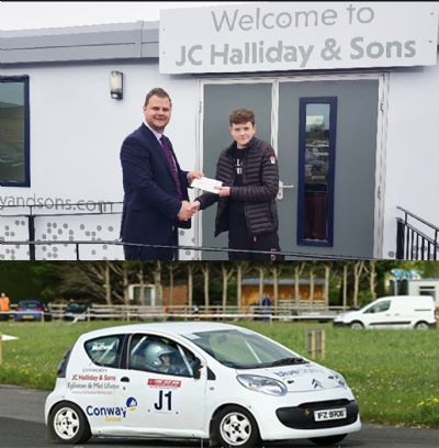 JC Halliday & Sons Mid-Ulster sponsors promising Junior Rally Driver